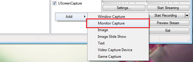 OBS: Monitor Capture