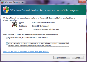 Windows Firewall Prompt